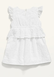 Old Navy Ruffle-Sleeve Tiered Eyelet Dress for Baby