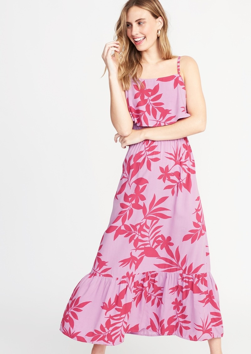 Old Navy Ruffle-Tiered Waist-Defined Maxi for Women