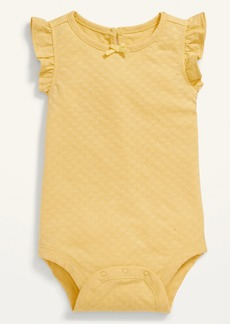 Old Navy Ruffle-Trim Jacquard Bodysuit for Baby