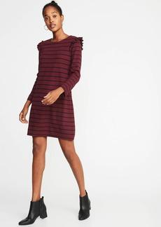 Old Navy Ruffle-Trim Ponte-Knit Shift Dress for Women