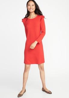 Old Navy Ruffle-Trim Ponte-Knit Tee Dress for Women