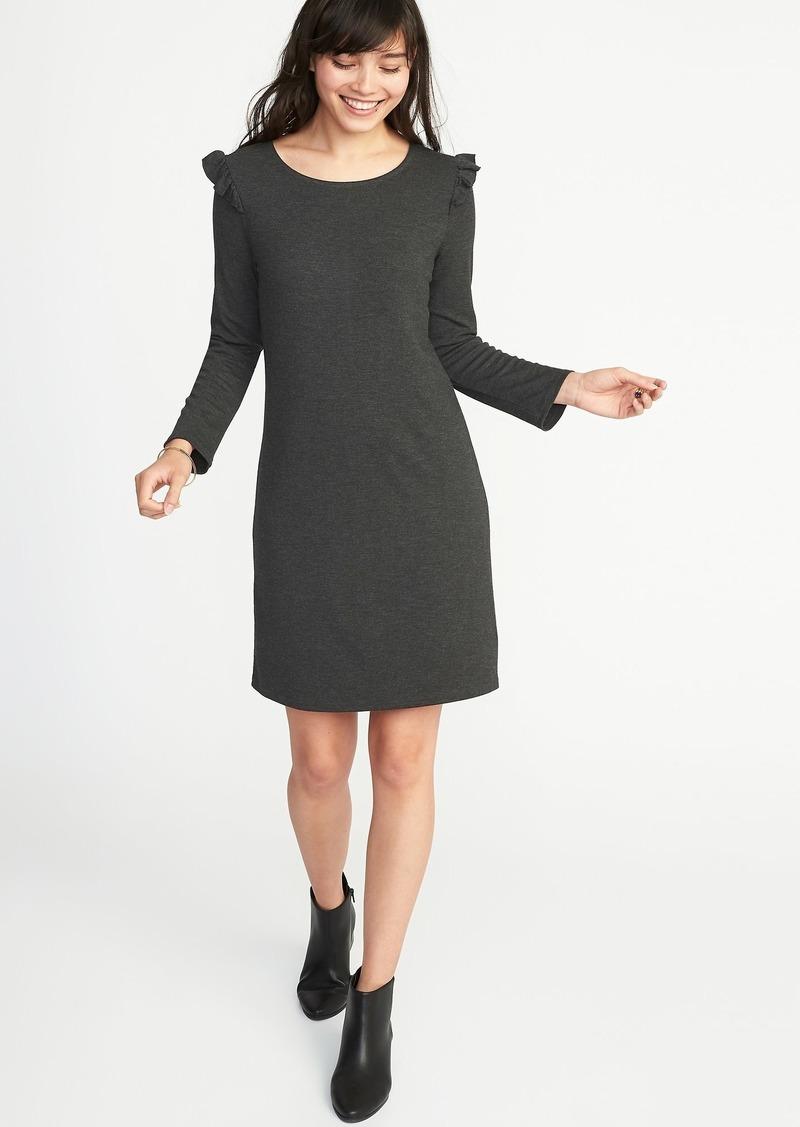 923c2e458622 Old Navy Ruffle-Trim Ponte-Knit Tee Dress for Women