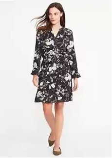 Ruffle-Trim Shirt Dress for Women