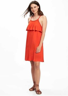 Ruffle-Trim Swing Dress for Women