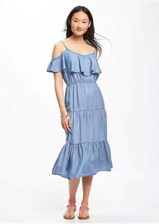 Ruffle-Trim Tencel&#174 Dress for Women