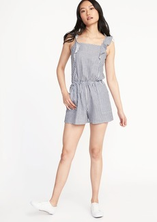 Old Navy Ruffle-Trim Utility Romper for Women