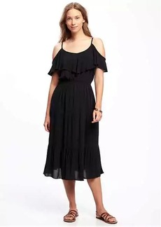 Ruffled Cold-Shoulder Dress for Women