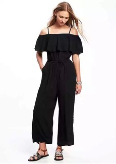 Ruffled Off-the-Shoulder Jumpsuit for Women