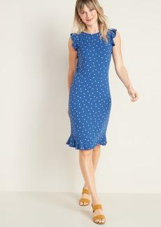 Old Navy Ruffled Ponte-Knit Sheath Dress for Women