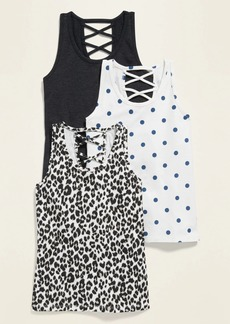 Old Navy Scoop-Neck Racerback Tank Top 3-Pack for Girls