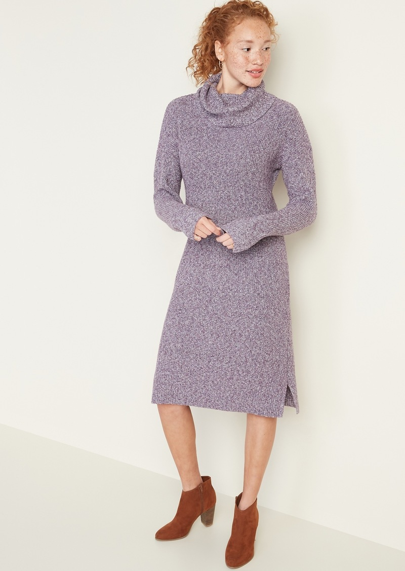 Old Navy Shaker-Stitch Turtleneck Sweater Dress for Women