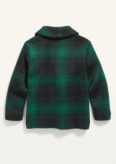 Old Navy Shawl-Collar Sweater-Knit Plaid Cardigan for Toddler Boys