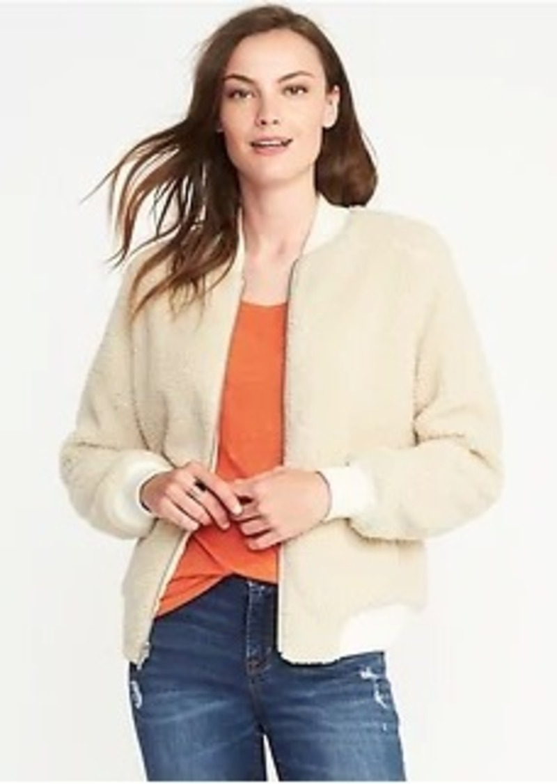 7874afd9bc92 Old Navy Sherpa Bomber Jacket for Women