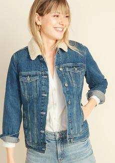 Old Navy Sherpa-Lined Jean Jacket For Women