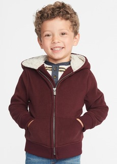Old Navy Sherpa-Lined Micro Performance Fleece Zip Hoodie for Toddler Boys