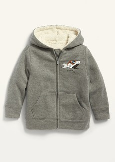 Old Navy Unisex Sherpa-Lined Zip Hoodie for Toddler