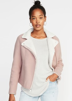 Old Navy Sherpa Moto Jacket for Women