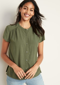 Old Navy Shirred Button-Front Blouse for Women