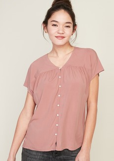 Old Navy Shirred Button-Front Shirt for Women