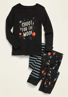 """Old Navy Unisex """"Shoot for the Moon"""" Space-Graphic 3-Piece Pajama Set for Toddler & Baby"""