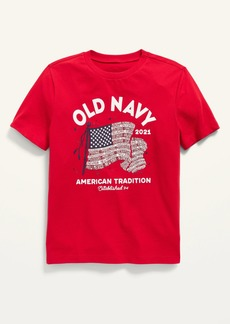 Old Navy Short-Sleeve 2021 Flag-Graphic Tee for Boys