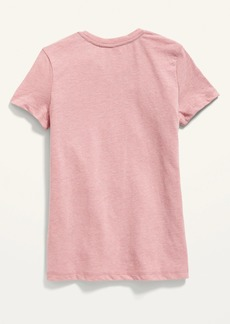 Old Navy Short-Sleeve Logo-Graphic Tee for Girls