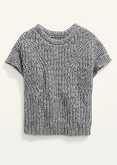 Old Navy Short-Sleeve Shaker-Stitch Sweater for Toddler Girls