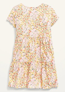 Old Navy Short-Sleeve Tiered Floral Dress for Girls
