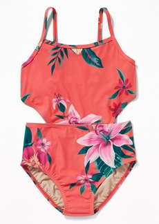Old Navy Side-Cutout Swimsuit for Girls