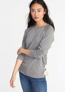 Old Navy Side-Lace-Up French-Terry Sweatshirt for Women