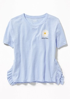 Old Navy Side-Ruffle Graphic Tee for Girls
