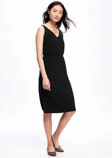 Side-Slit Midi Dress for Women