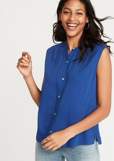 Old Navy Sleeveless Button-Front Shirt for Women
