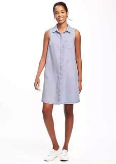 Old Navy Sleeveless Chambray Shirt Dress for Women