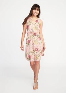 Sleeveless Cinched-Waist Dress for Women