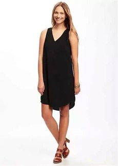 Sleeveless Cutout-Back Shift Dress for Women