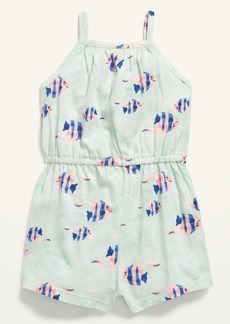 Old Navy Sleeveless Fish-Print Jersey Romper for Baby