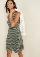 Old Navy Sleeveless Fit & Flare Striped Jersey Dress for Women