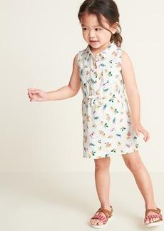 Old Navy Sleeveless Floral Shirt Dress for Toddler Girls