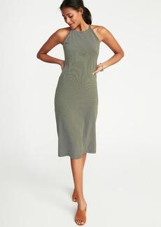 Sleeveless High-Neck Midi Dress for Women