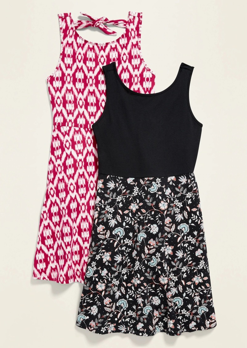 Old Navy Sleeveless Jersey Fit & Flare Dress 2-Pack for Girls