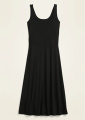 Old Navy Sleeveless Jersey-Knit Fit & Flare Midi Dress for Women