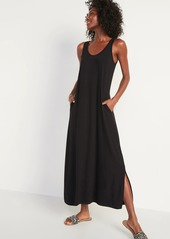 Old Navy Sleeveless Jersey-Knit Maxi Shift Dress for Women