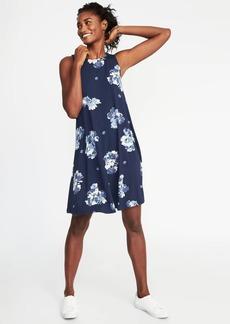 Sleeveless Jersey-Knit Swing Dress for Women