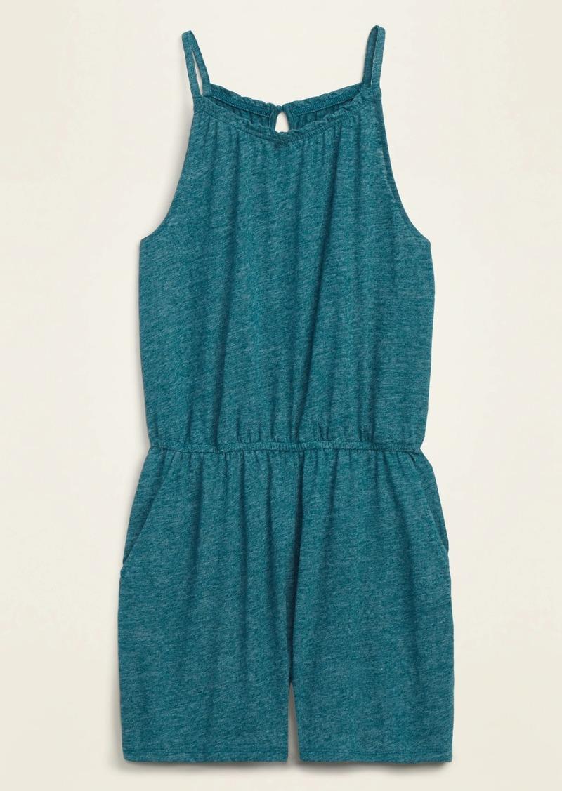 Old Navy Sleeveless Linen-Blend Jersey Romper for Women