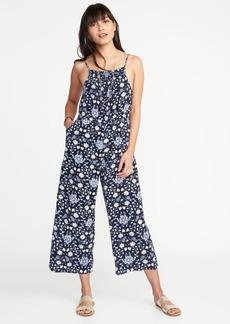 Sleeveless Linen-Blend Jumpsuit for Women