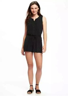 Sleeveless Pintuck Romper for Women