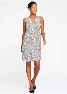 Sleeveless Pintuck Swing Dress for Women