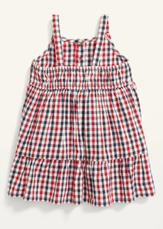 Old Navy Sleeveless Plaid Tiered Henley Dress for Baby