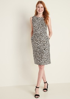 Old Navy Sleeveless Ponte-Knit Knee-Length Sheath Dress for Women